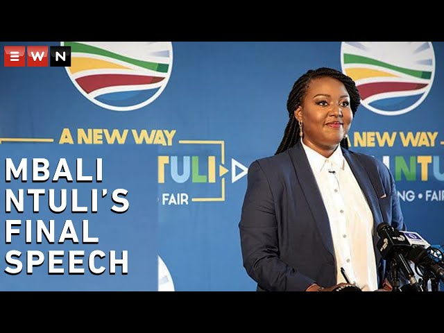 'We need a new way of politics': Mbali Ntuli's final speech for the DA's leadership position