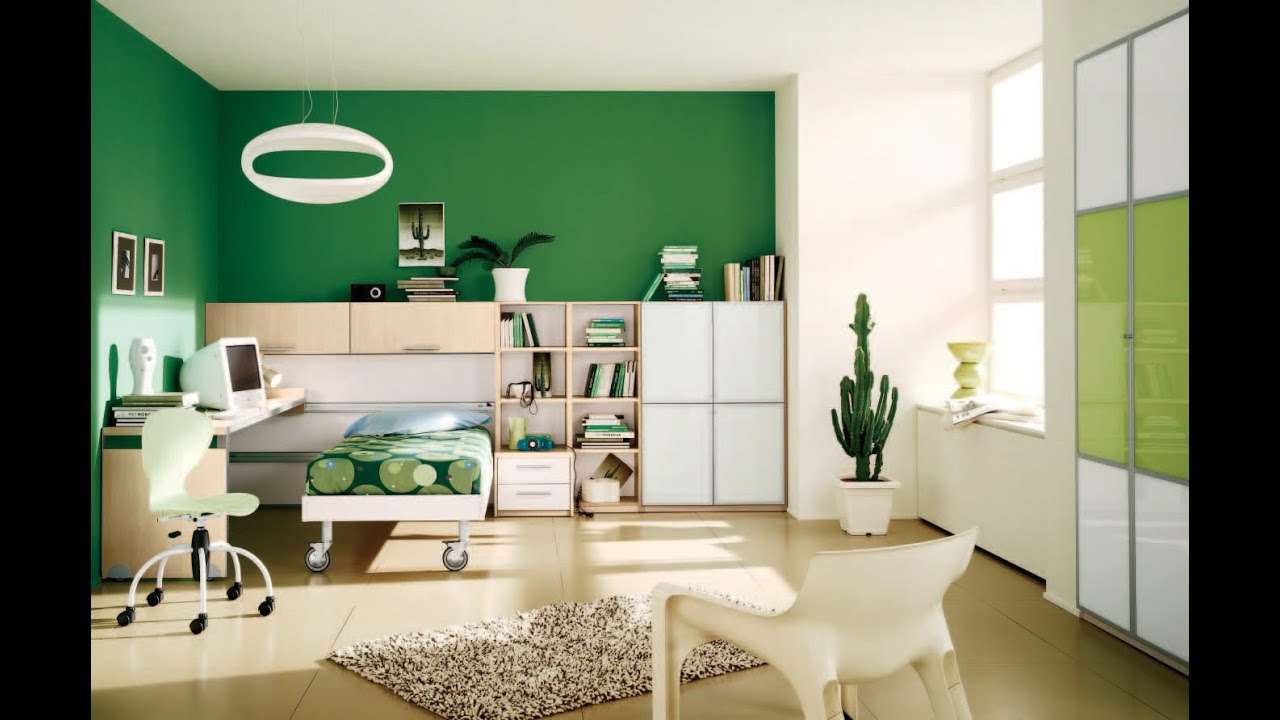 Interior Paint Design Ideas green wall interior paint designs bedroom that can be combined with wooden floor and white seat Interior Design