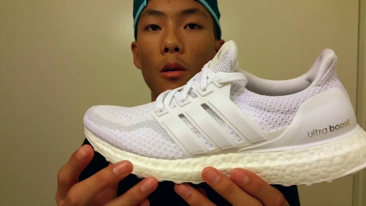 bed4d97adde 2) Latest Unboxing Kanye West Adidas Ultra Boost Triple White 2.0 + ...