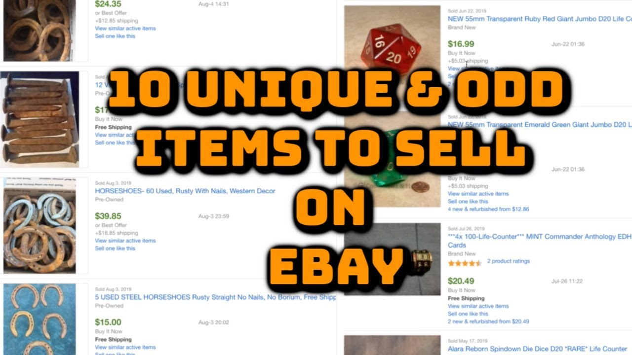 10 Unique Odd Items To Sell On Ebay For Profit Youtube
