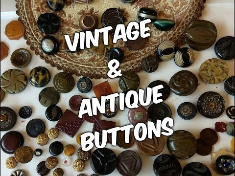 Apache Angel, Antique and Vintage Buttons, Jewels By Nay