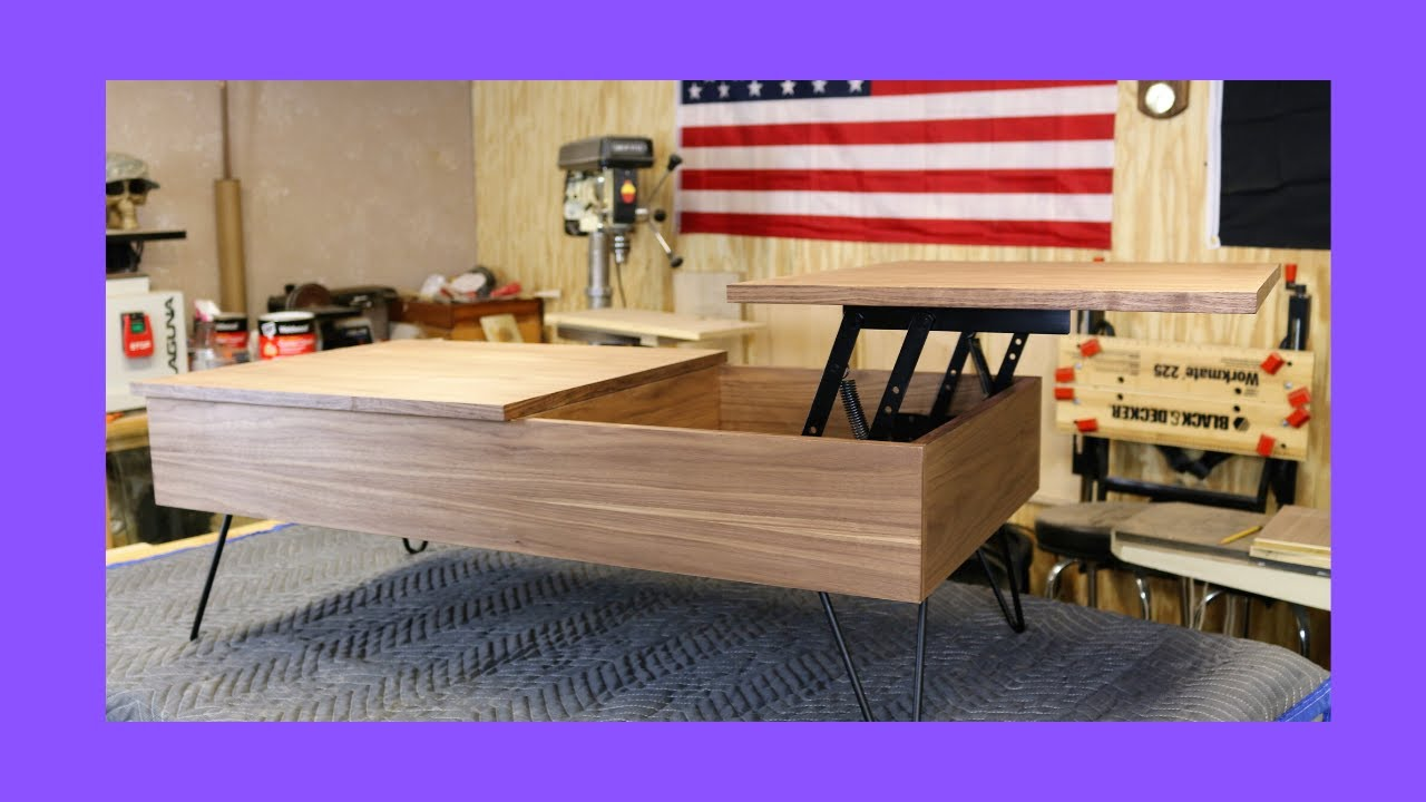 easy to build modern lift top coffee table