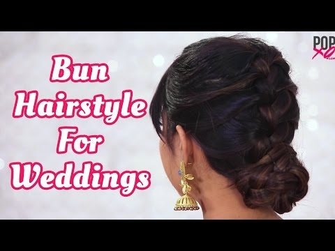 How To Make Bun Hairstyle With Indian Outfit | Wedding Guest Hairstyles - POPxo