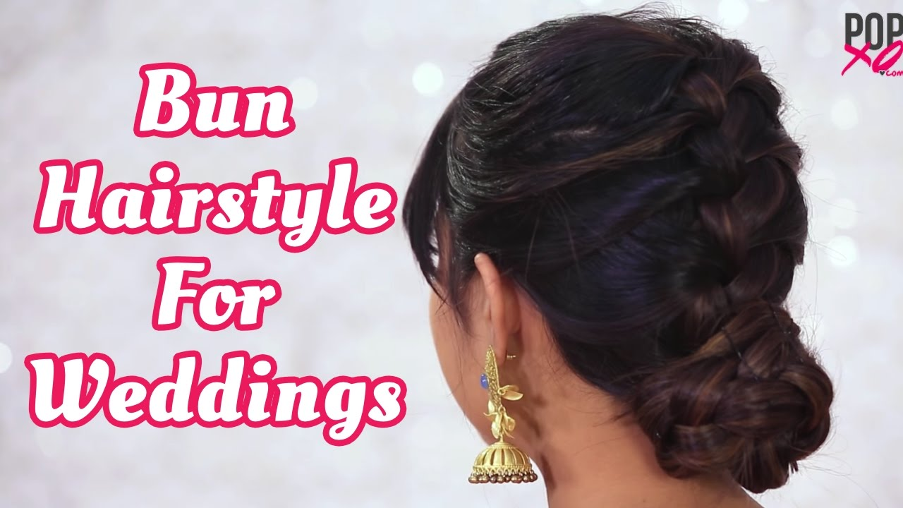 How To Make Bun Hairstyle With Indian Outfit Wedding Guest