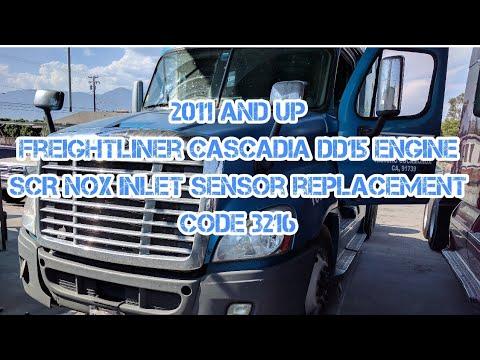 Freightliner Cascadia DD13 DD15 SCR inlet NOx sensor replacement spn 3216  (fmi 2 - 4 - 21)