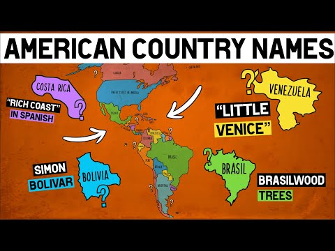 How Did Each American Country Get Its Name