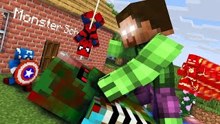 Monster School : TINY MONSTERS PRISON ESCAPE - Minecraft Animation