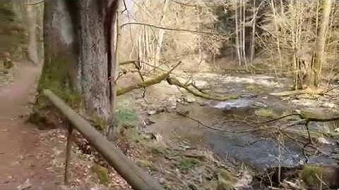Der Röslaudurchbruch auch Gsteinigt genannt bei Arzberg im Fichtelgebirge