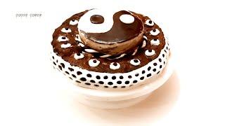 Торт Инь Янь Yin Yang Chocolate cake Бисквит