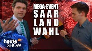 Lutz van der Horst und Fabian Köster bei den Saarland-Wahlpartys