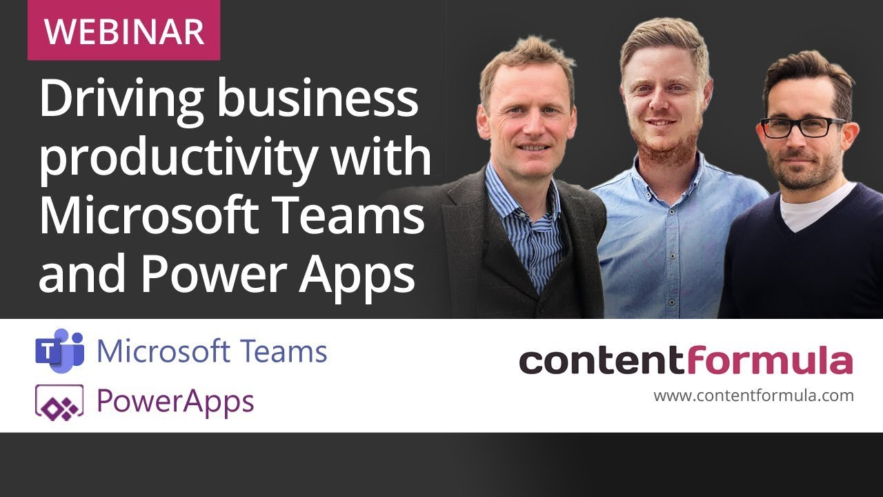 Webinar Video - Driving business productivity with PowerApps