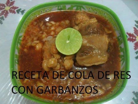 RECETA DE COLA DE RES CON GARBANZOS  (LOS ANGELES COCINAN)