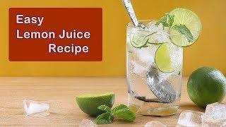 Healthy Lemon Drink - Easy Homemade Lemonade Recipe