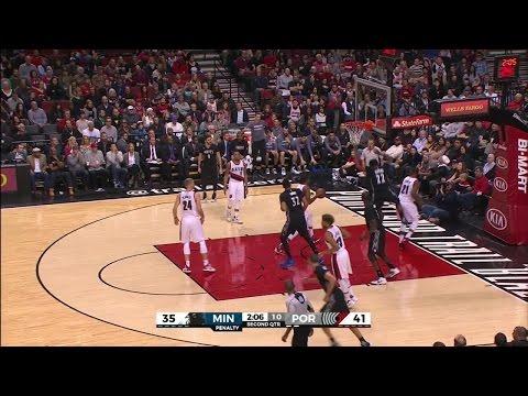 Quarter 2 One Box Video :Trail Blazers Vs. Timberwolves, 1/31/2016 12:00:00 AM