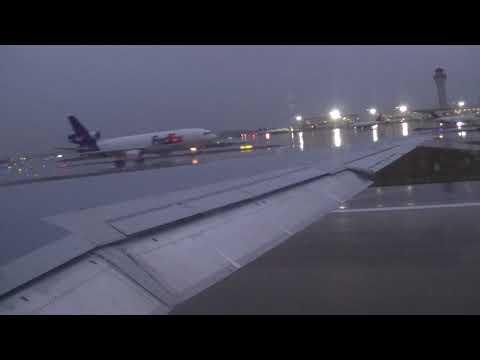 Delta Airlines MD-88 [N906DE] Rainy Takeoff   KDTW