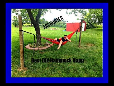 best diy hammock hang   no trees needed  best diy hammock hang   no trees needed    youtube  rh   youtube