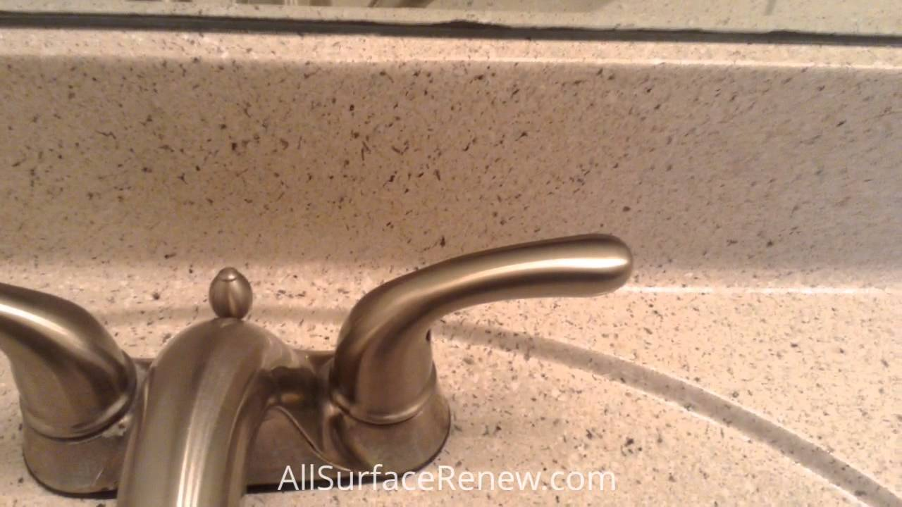Painting Cultured Marble Sink Restoring Cultured Marble Sinks Youtube