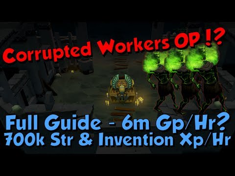 Corrupted Workers Guide! 700k Melee & Invention Xp/hr & 6m Gp/hr! [Runescape 3] Menaphos Update!