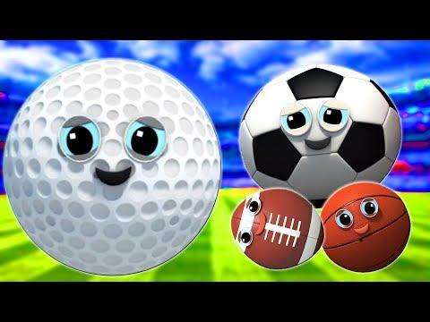 sport palla famiglia dito | Bambini canzone | famiglia dito in italiano | Sports Ball Finger Family