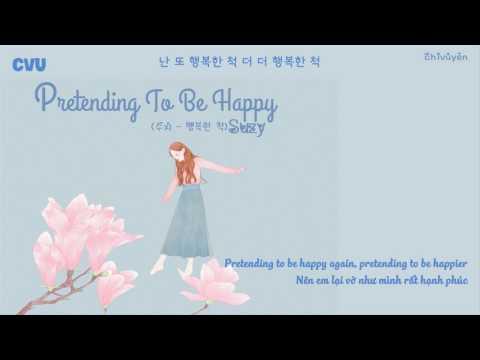 [Vietsub + Engsub + Hangul] Suzy (수지) - Pretend/Pretending To Be Happy (행복한 척)