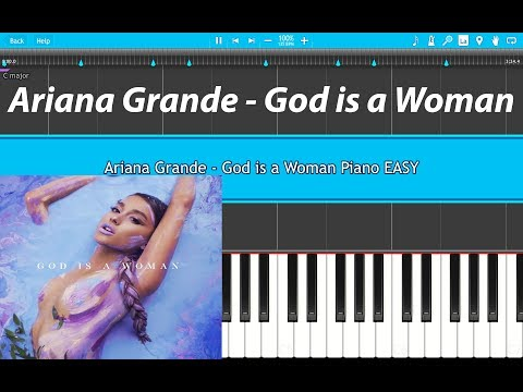 Ariana Grande - God is a woman Piano EASY (Piano Cover) FIRST UPLOAD