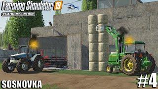 Stacking Straw from Wheat   Sosnovka   Farming Simulator 19   #4