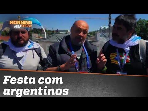 Nilson César Faz A Festa Com Argentinos Na Rússia!