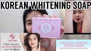 JINJU SOAP FIRST IMPRESSION   KOREAN BEST WHITENING SOAP