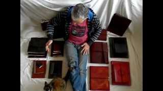 handmade leather books journals and photo albums