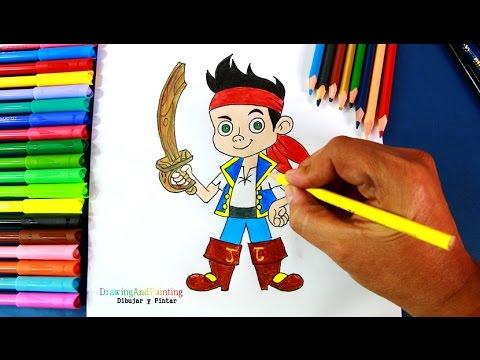 How To Draw JAKE (Jake And The Never Land Pirates) | Dibujar A Jake (La Isla Pirata)