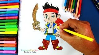How to draw JAKE (Jake and the Never Land Pirates) | Dibujar a Jake (La Isla Pirata)