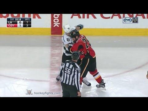 Jarome Iginla vs Deryk Engelland Mar 29, 2017
