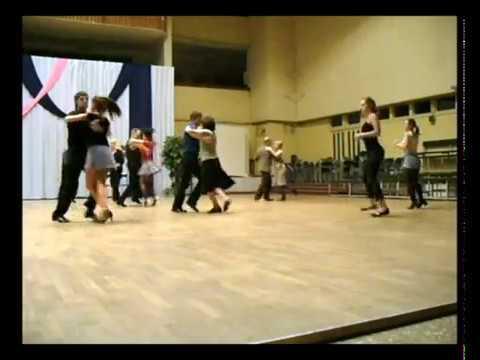 """Сальса на занятиях клуба бального танца """"Фиеста"""" под руководством Дмитрия Завгороднего."""
