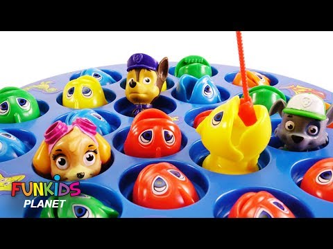 Best Learning Colors for Children: Paw Patrol Skye & Chase Let's Go Fishing with Color Fish Toys