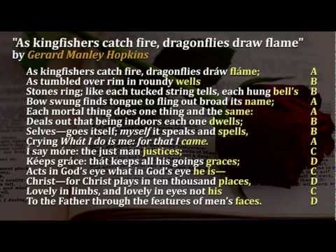 Sonnets Video 10 As Kingfishers Catch Fire, Dragonflies Draw Flame