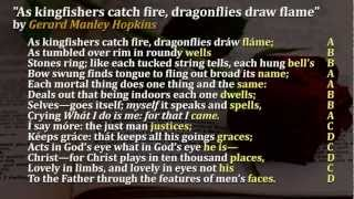 Sonnets Video 10 As kingfishers catch fire, dragonflies draw flame""