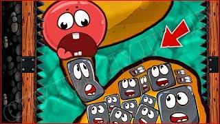 ОГО КАКИЕ БОЛЬШИЕ МОНСТРЫ !!! КРАСНЫЙ ШАРИК 4  ПОДЗЕМНЫЕ ХОДЫ мультик игра для детей шар RED BALL 4