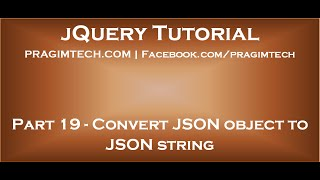 Convert JSON object to string