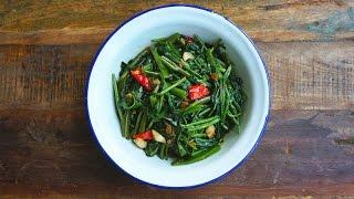 Stir Fried Spicy Water Spinach (goreng Kangkung)
