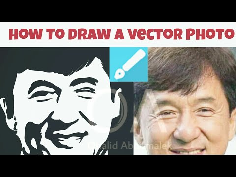 TUTO/How To Draw a Vector Art photo Black And White