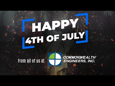 Happy Fourth of July from Commonwealth Engineers