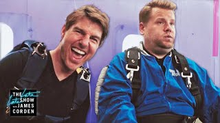 Download Tom Cruise Forces James Corden to Skydive Mp3 and Videos
