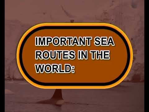 Water transport - Sea routes