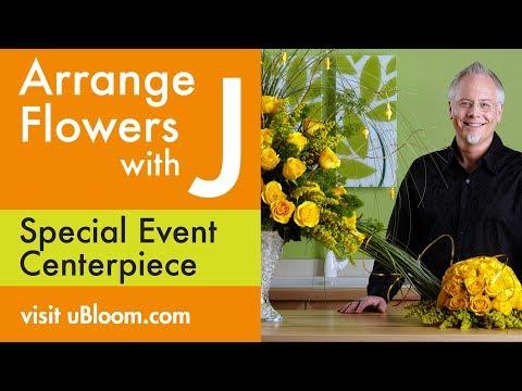 How To Arrange Flowers- Yellow Rose Centerpiece!