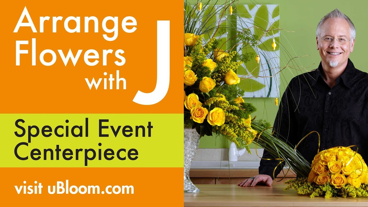 How To Arrange Flowers Yellow Rose Centerpiece Youtube
