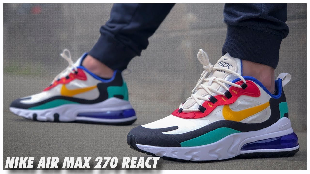 Nike Air Max 270 React Mens Running Shoes Sneakers Trainers