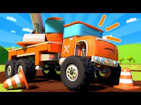 รถมอนสเตอร์สำหรับเด็กๆ - หลักสูตรอลเวง ฝ่าด่านสิ่งกีดขวาง!  🚚 คาร์ซิตี้ - การ์ตูนรถบรรทุกสำหรับเด็ก