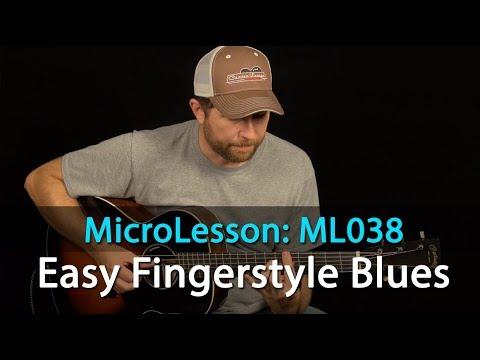 Easy Fingerstyle Blues Guitar Lesson - Beginner Fingerstyle Guitar Lesson - ML038