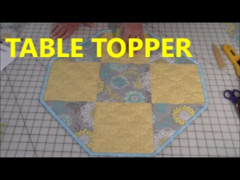 Quilted Round Table Toppers.9 Patch Table Topper