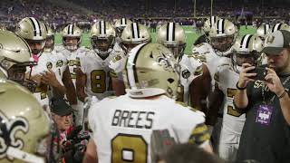 New orleans saints quarterback drew brees fired up his squad before sunday night's primetime game against the minnesota vikings.